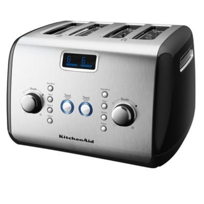 KitchenAid 4-Slice Toaster with Digital Display and Auto Lift- Onyx