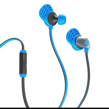 Jlab Audio Inc. JLAB Blue/Graphite EPIC-BLUGRY-BOX Jbuds EPIC earbuds with 13mm C3 Massive Drivers and Customizable Cush Fins