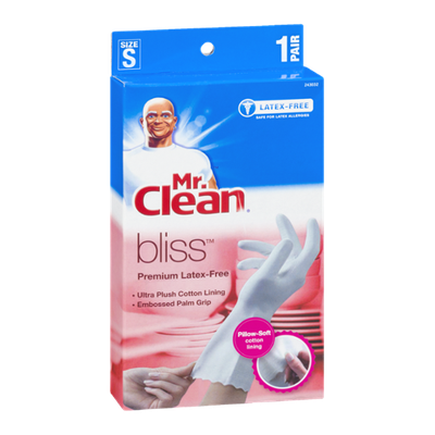 Mr. Clean Bliss Premium Latex-Free Gloves Size S