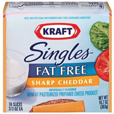 Kraft Singles Fat Free Sharp Cheddar Cheese Slices 10.7 oz 16 ct