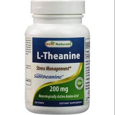 1 L-Theanine 200 Mg 60 Vcaps By Best Naturals Featuring Clinically Proven Suntheanine - Essential For Stress Management