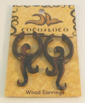 Post Earrings Wood Black Coco Loco 1 Pair Earring
