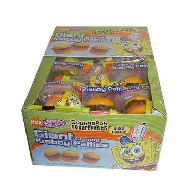 Frankford Candy SpongeBob Squarepants Giant Gummy Krabby Patties 0.63 OZ (36 Count)