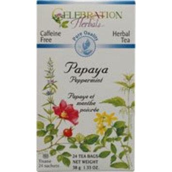 Celebration Herbals Papaya Peppermint Tea Caffeine Free -- 24 Tea Bags