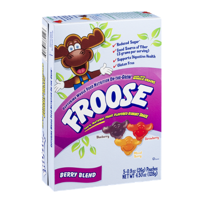 Froose Fruit Flavored Gummy Snack Pouches Berry Blend - 5 CT