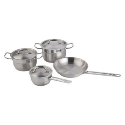 BergHOFF Hotel 18/10 Stainless Steel 7 Piece Cookware Set - Silver