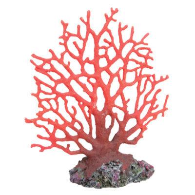 Top Fin Artifical Red Coral Fan Aquarium Plant