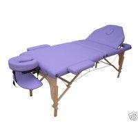 BestMassage Purple PU Reiki Portable Massage Table w/Carry Case