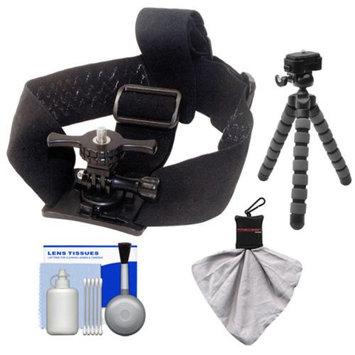 Intova Skate Essentials Bundle for ContourROAM, ContourROAM 2 & Contour+ 2 Action Camcorders with Helmet Mount + Flex Tripod + Accessory Kit