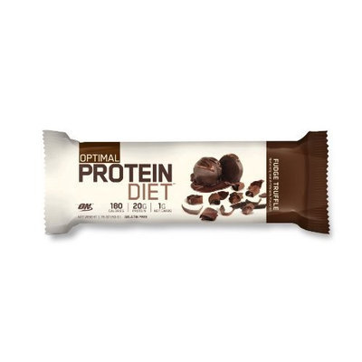 Optimum Nutrition Complete Protein Diet Bar, Fudge Truffle, Pack Of 15