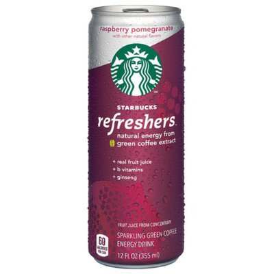 Starbucks Refreshers Raspberry Pomegranate Sparkling Green Coffee