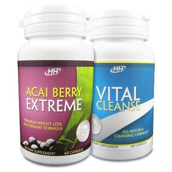 Hh Nutritionals Acai Berry Extreme / Vital Cleanse Colon Cleanse Set - Powerful Weight Loss Diet Pill Combination