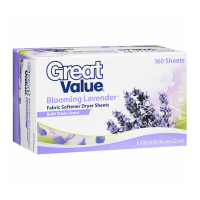 Great Value Blooming Lavender Fabric Softener Dryer Sheets