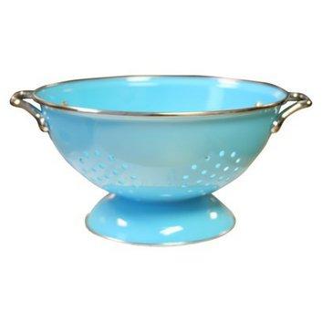 Reston Lloyd Enamel/ Stainless Steel Colander - Turquoise (3-qt.)