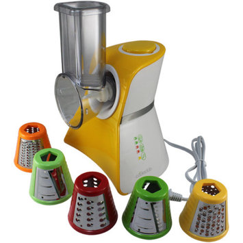 Cooks Club USA VC02SYL Salad Maker Mini Food Processor and Produce Shooter Spray Yellow