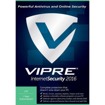 ThreatTrack VIS11Y2016ESD-0000US VIPRE Internet Security 2016, 1 PC, 1 Year (Email Delivery)