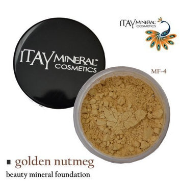 Itay Beauty Mineral Cosmetics Itay Beauty 100% Natural Mineral Foundation Color :Mf-4 Golden Nutmeg+ Longlasting Black Eye Liner