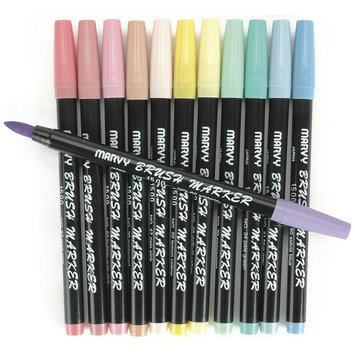 Uchida Brush Art Marker Set - 12/Pastel