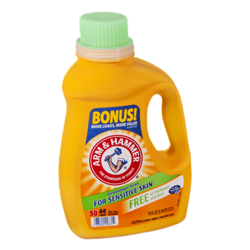 Arm & Hammer Perfume and Dye Free Liquid Laundry Detergent - 50 Loads