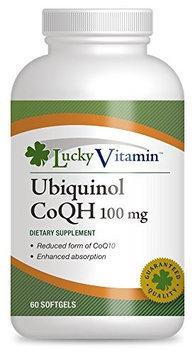 LuckyVitamin - Ubiquinol CoQH 100 mg. - 60 Softgels