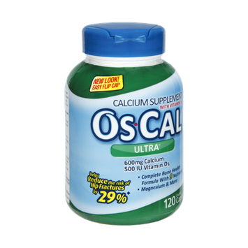 Os-Cal Ultra with Vitamin D3 Calcium Supplement Caplets - 120 CT
