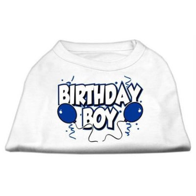Mirage Pet Products 51-05 XXLWT Birthday Boy Screen Print Shirts White XXL - 18
