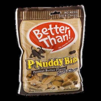 Better Than! P-Nuddy Bite Peanut Butter Flavor Soft Chews Premium Dog Treats