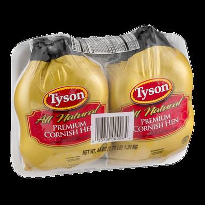 Tyson All Natural Premium Cornish Hen - 2 CT