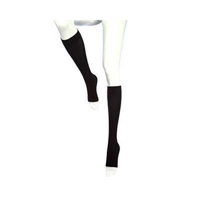 mediven comfort Compression Stockings 15-20 CALF PET Open Toe Ebony I