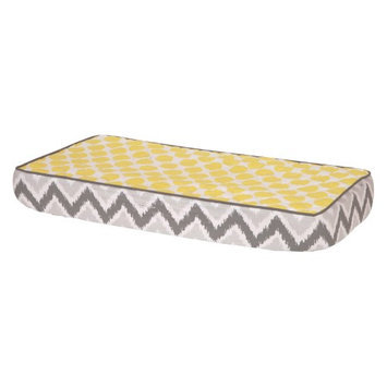 Bacati Ikat Zigzag/Dots Changing Pad Cover Color: Yellow