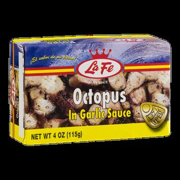 La Fe Octopus in Garlic Sauce