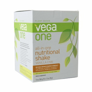 Vega One All-In-One Nutritional Shake Packets, Vanilla Chai, 10 ea
