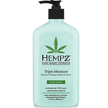Hempz Triple Moisture Herbal Whipped Body Crème, 17 Fluid Ounce