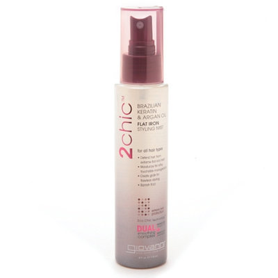 Giovanni 2chic Brazilian Keratin & Argan Oil Ultra-Sleek Flat Iron Styling Mist
