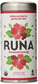 Runa Organic Guayusa Loose Leaf Tea Hibiscus Berry 2.5 oz