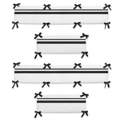 Sweet Jojo Designs Hotel Crib Bumper in White/Black
