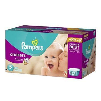 Pampers Cruisers Diapers Economy Plus Pack Size 5 (132 Count)