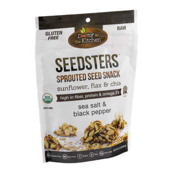 Doctor In The Kitchen Sprouted Seed Snack Sunflower, Flax & Chia Sea Salt & Black Pepper