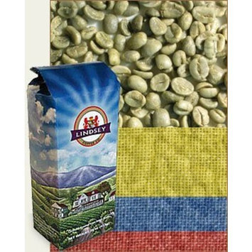 Lindsey Green Coffees Colombia Supremo Raw (Green) Coffee Beans (5 lbs)