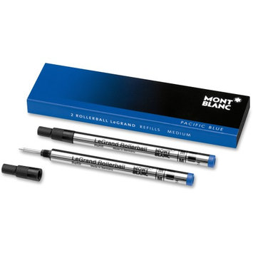Montblanc Rollerball Pen Refill - Medium Point - Pacific Blue - 2 / Pack (mnb-105165)