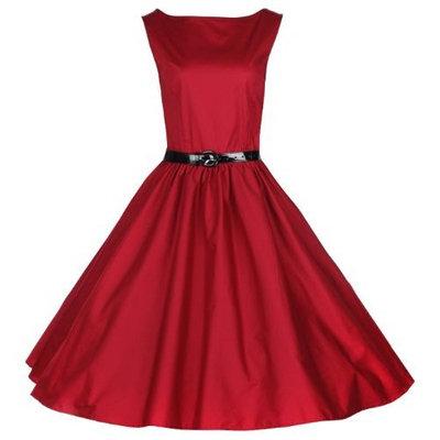 Lindy Bop 'Audrey' Classy Vintage Style 1950's Rockabilly Swing Evening Dress []