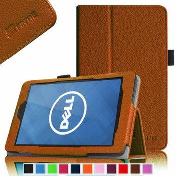 Fintie Folio Leather Case Cover For Dell Venue 7 / New Dell Venue 7 (2014 Version) 7-Inch Android Tablet, Brown
