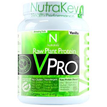 NutraKey VPRO Raw Plant Protein Vanilla 1 lb