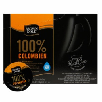 Brown Gold Coffee Capsules, 100% Colombian, 48 ea