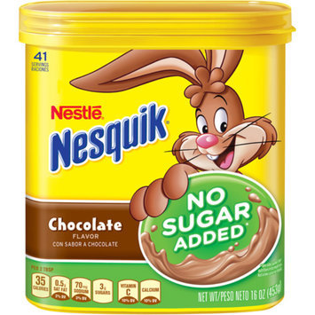 Nesquik Chocolate Mix No Sugar Added 16oz