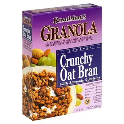 Breadshop's Granola Crunchy Oat Bran, 13-Ounce Boxes (Pack of 6)