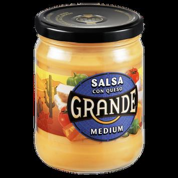 Grande Medium Con Queso Salsa