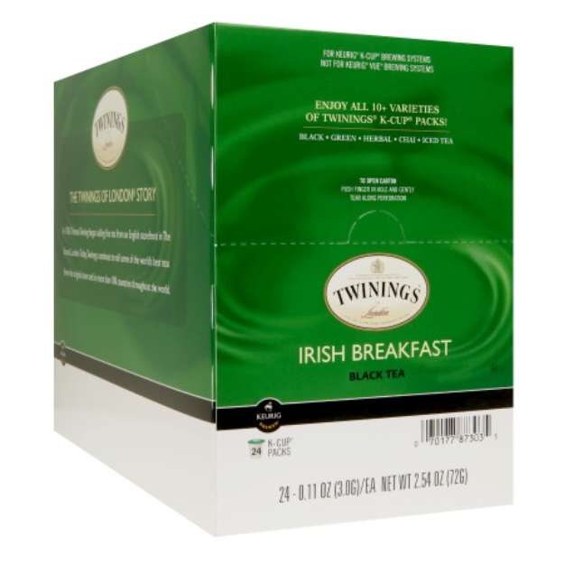 Twinings Irish Breakfast Tea K-Cups, 24 ea