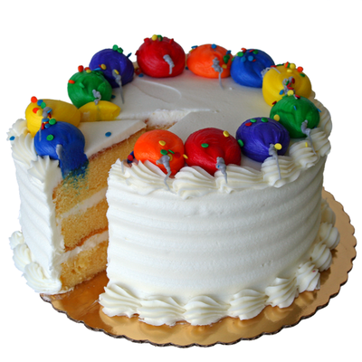 3 Layer White Buttercream Yellow Cake 6