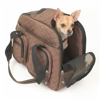 Snoozer Deluxe Pet Tote Bag, Brown